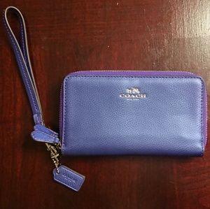 Coach Double Zip Wallet Wristlet - Like New!